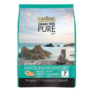 CANIDAE Grain Free Pure Sea Adult Cat Formula Made With Real Salmon