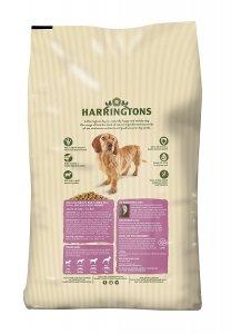 A back of Harringtons Dog Food Pack